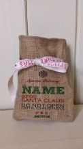 Personalized Special Delivery Small Father Christmas Xmas Santa Sack / Stocking Bag Jute Hessian